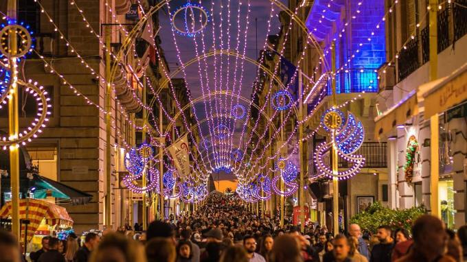 Christmas Lights in Valletta