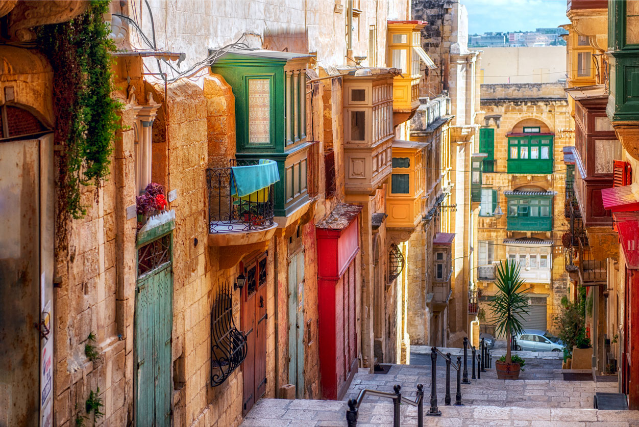 Valletta Streets and Balconies